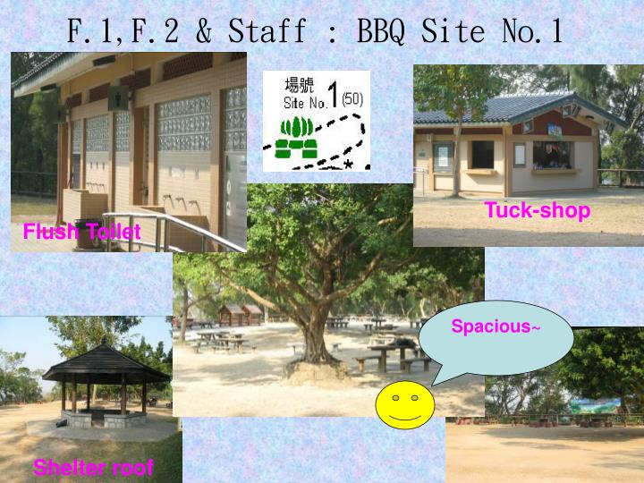 F.1,F.2 & Staff : BBQ Site No.1