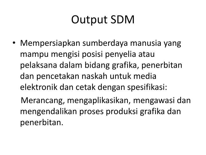 Output SDM