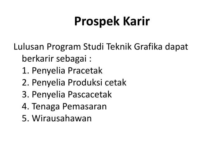 Prospek Karir