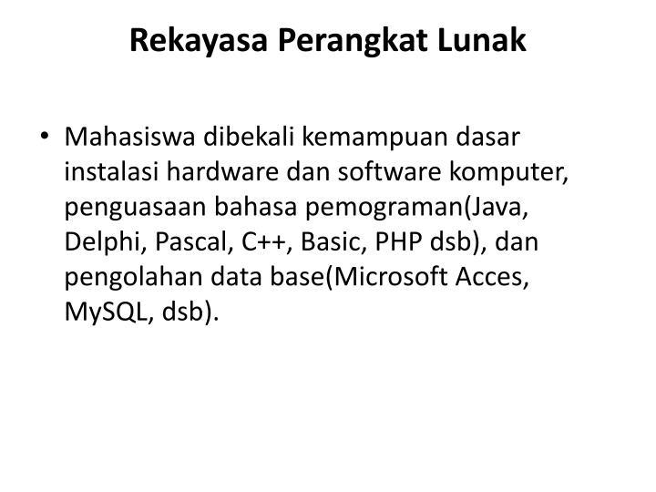 Rekayasa Perangkat Lunak
