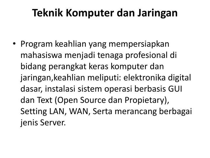 Teknik Komputer dan Jaringan