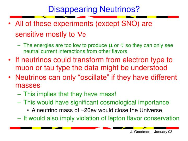 Disappearing Neutrinos?