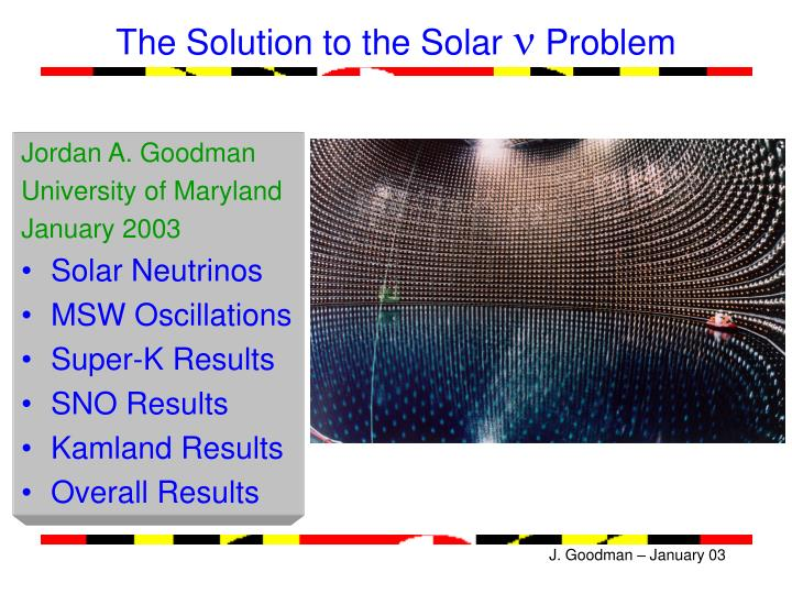 the solution to the solar n problem