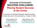 university of cincinnati s success challenge placing student success at the center