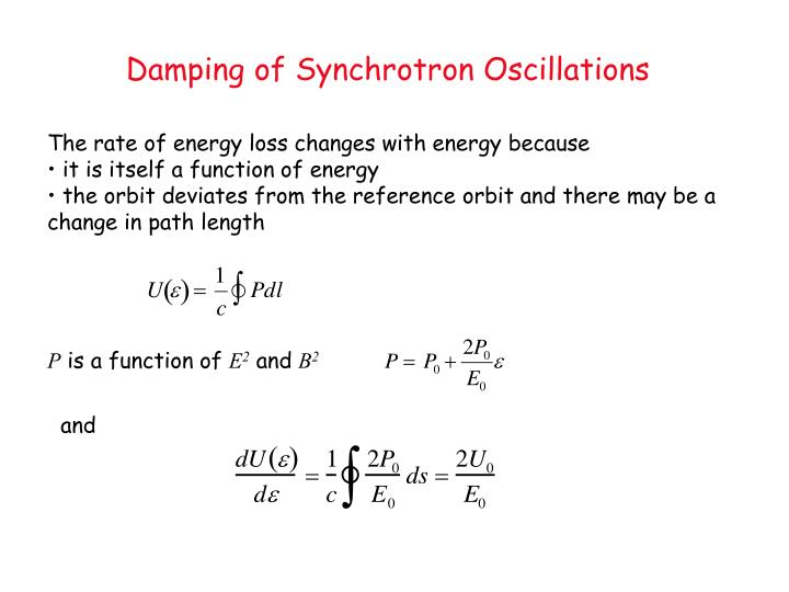 Damping of Synchrotron Oscillations