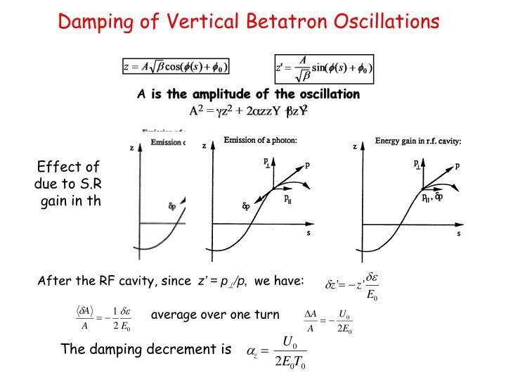 Damping of Vertical Betatron Oscillations