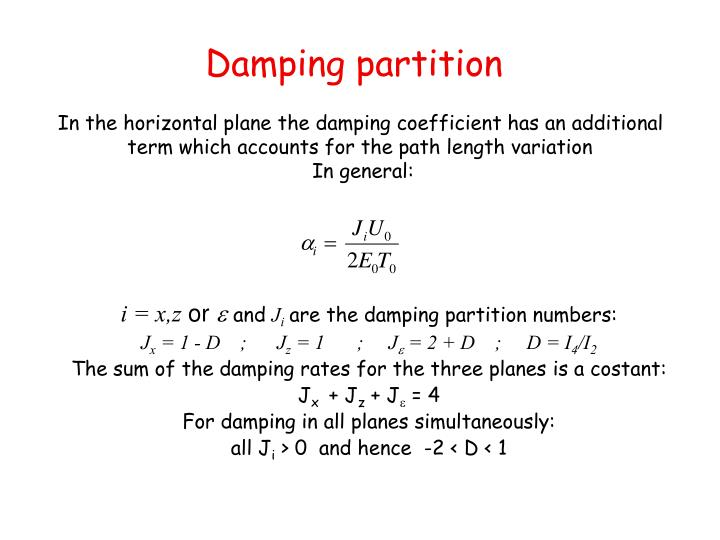 Damping partition