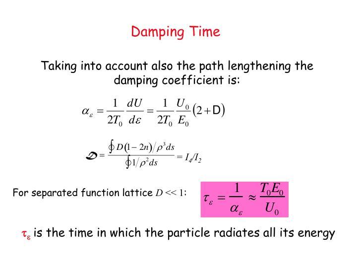 Damping Time