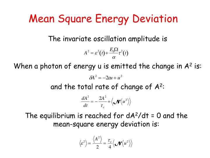 Mean Square Energy Deviation
