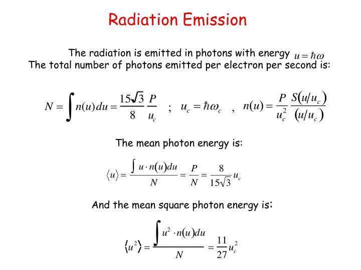 Radiation Emission