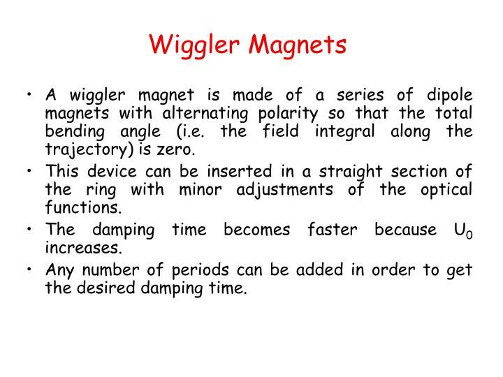 Wiggler Magnets