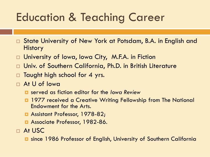 Education & Teaching Career