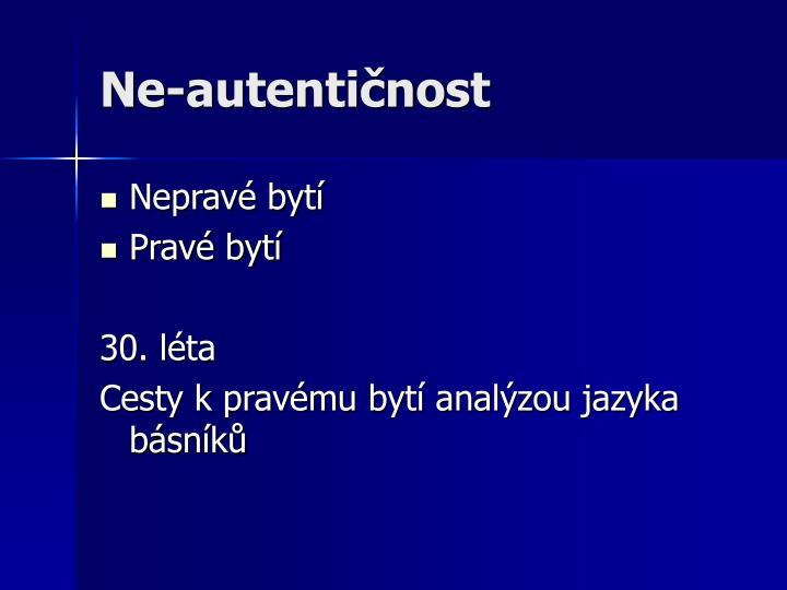 Ne-autentičnost