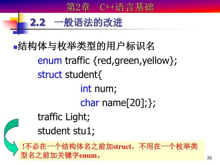 结构体与枚举类型的用户标识名