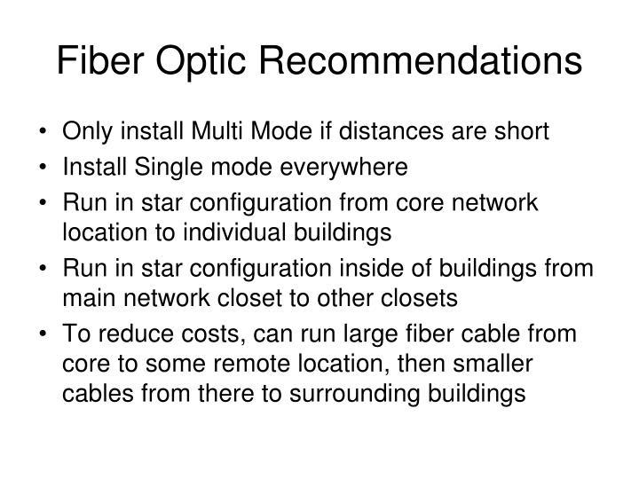 Fiber Optic Recommendations