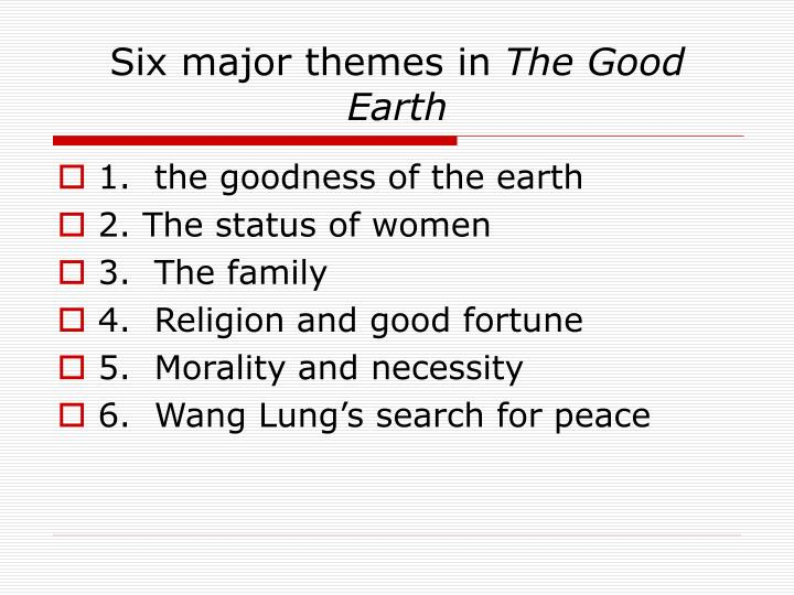 Six major themes in