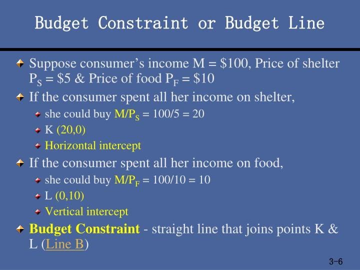 Budget Constraint or Budget Line