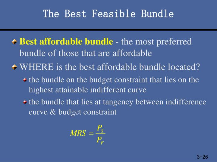 The Best Feasible Bundle