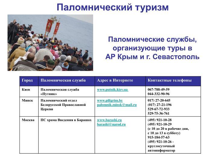 Паломнические службы, организующие туры в