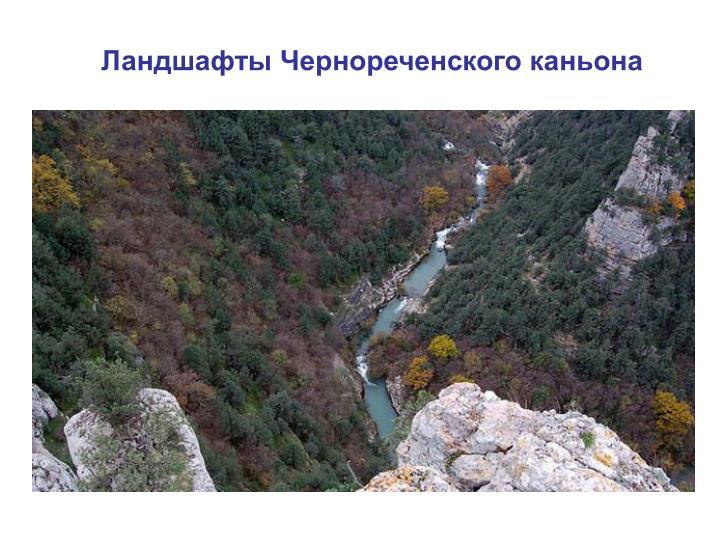 Ландшафты Чернореченского каньона