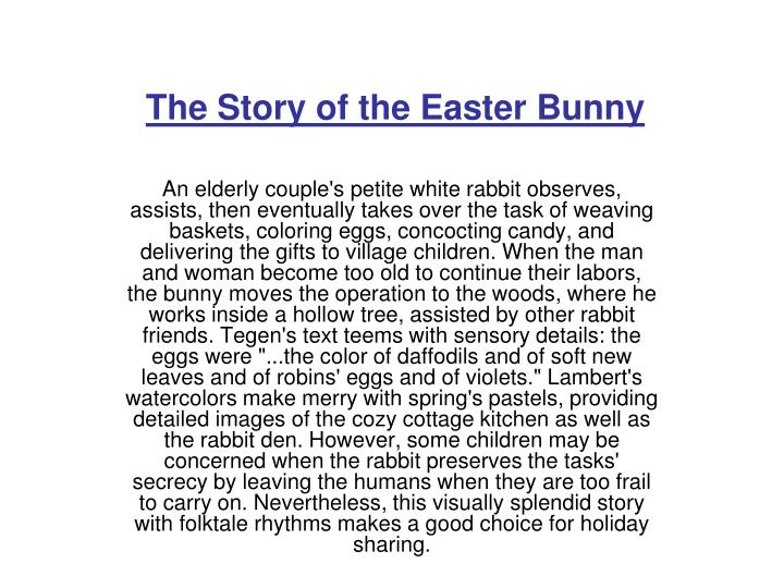 The Story of the Easter Bunny