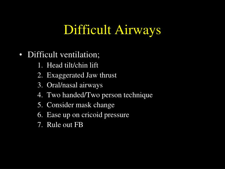 Difficult Airways