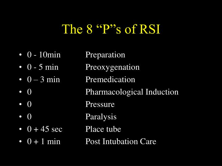 "The 8 ""P""s of RSI"