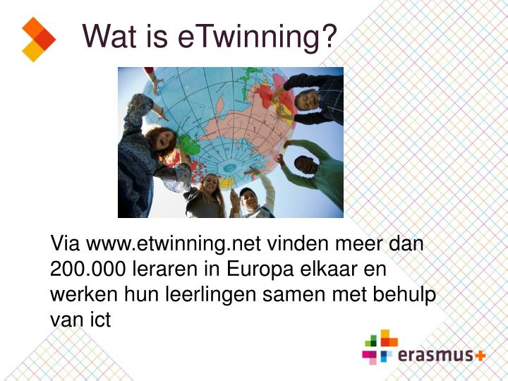 Wat is eTwinning?