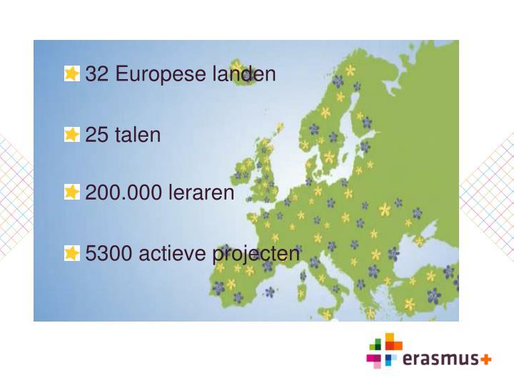 32 Europese landen