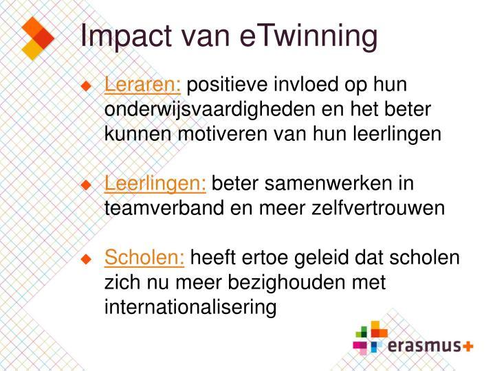 Impact van eTwinning