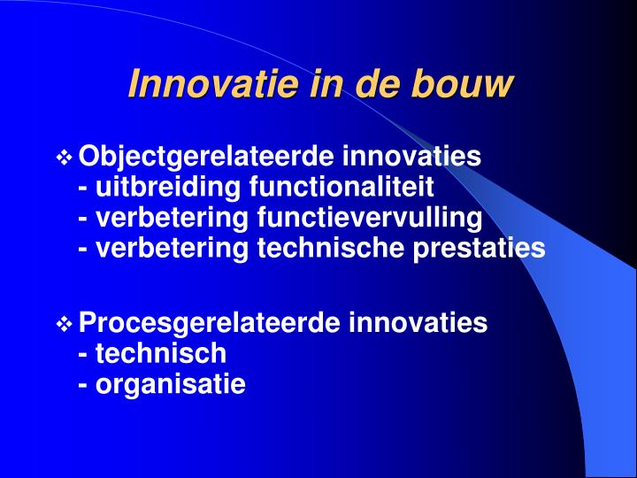Innovatie in de bouw