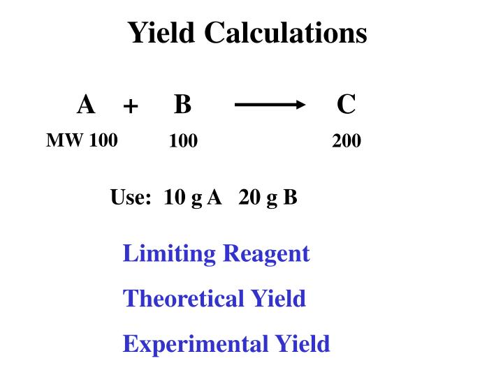 Yield Calculations