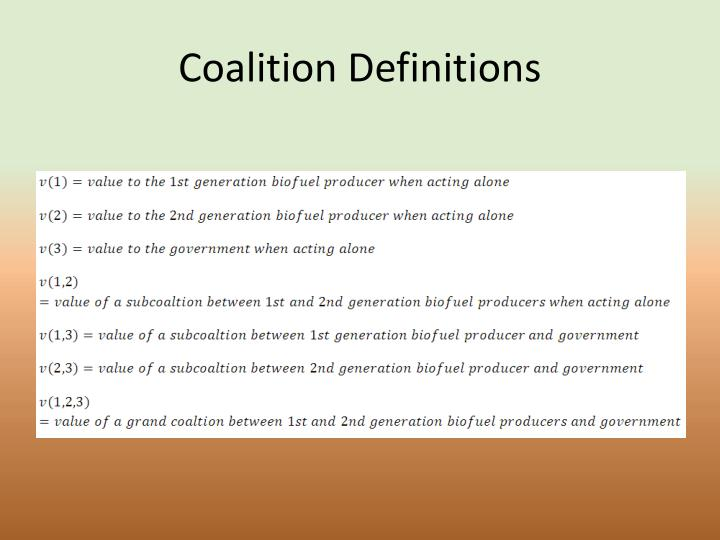 Coalition Definitions