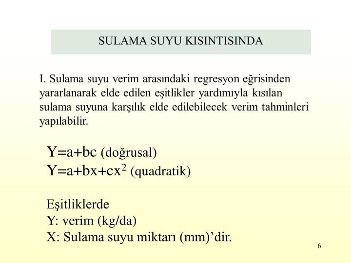 Y=a+bc