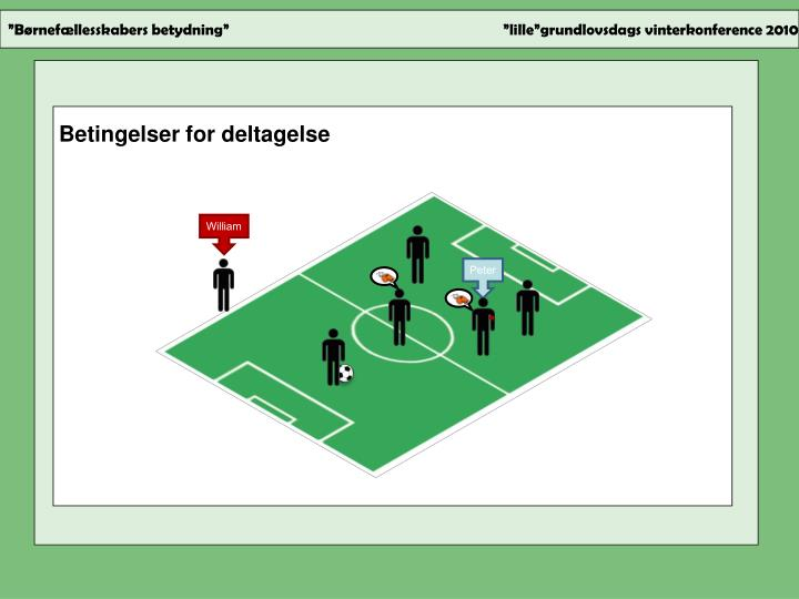 Betingelser for deltagelse