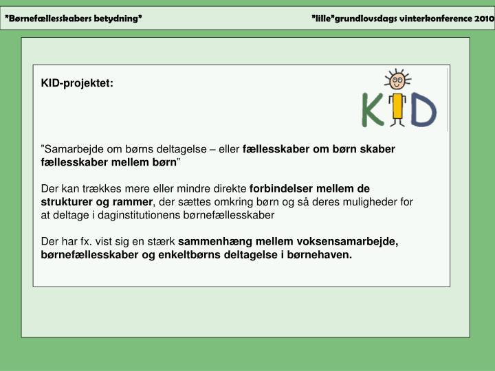KID-projektet: