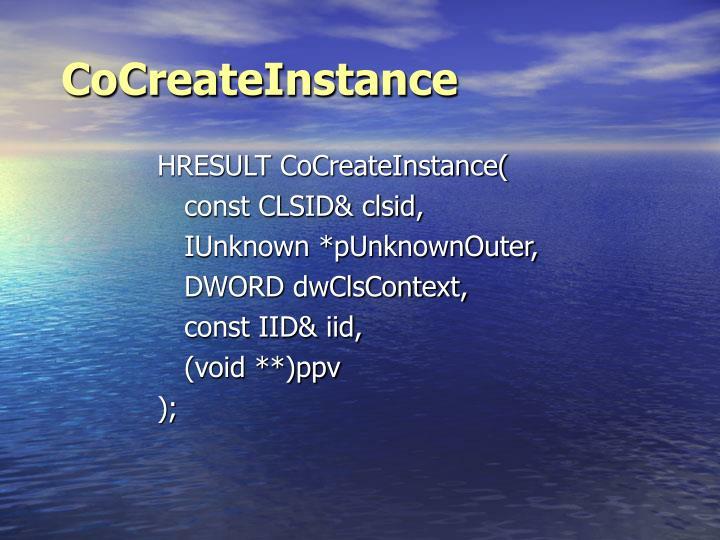 CoCreateInstance