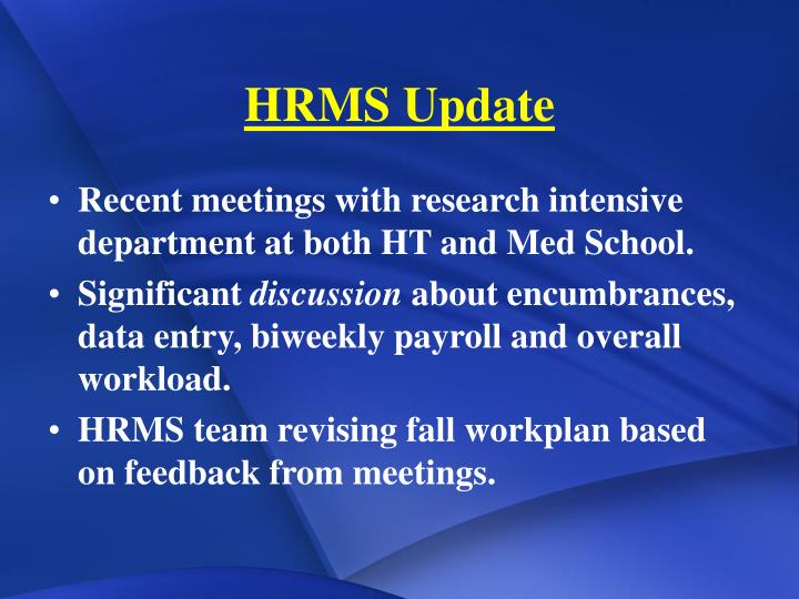 Hrms update
