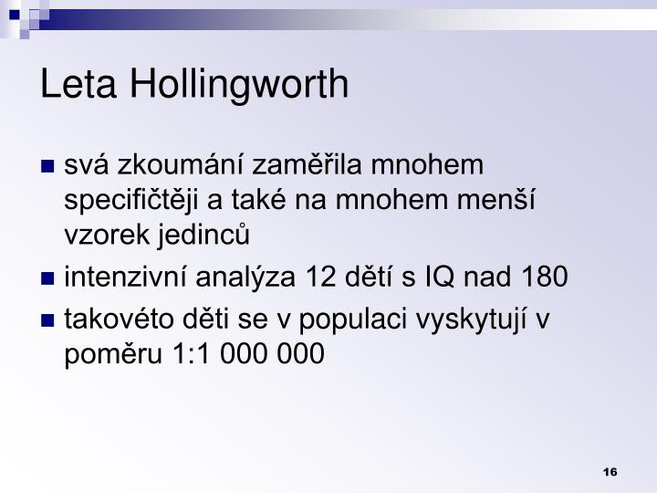 Leta Hollingworth