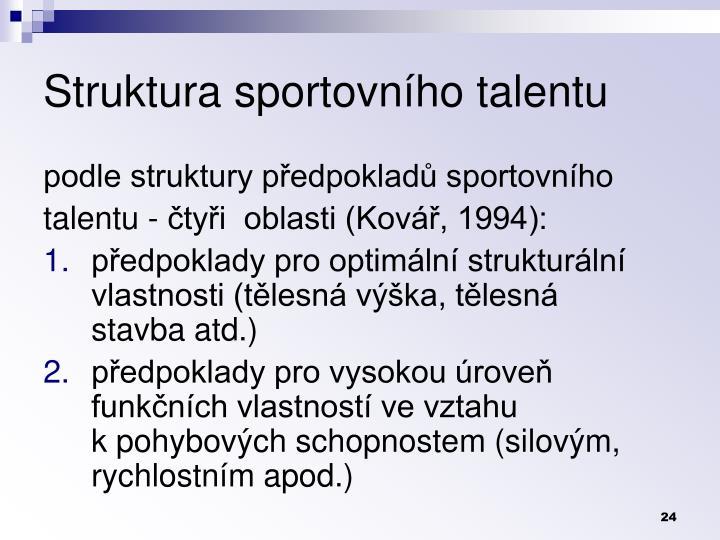 Struktura sportovnho talentu