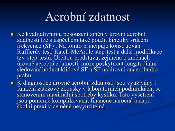 Aerobní zdatnost