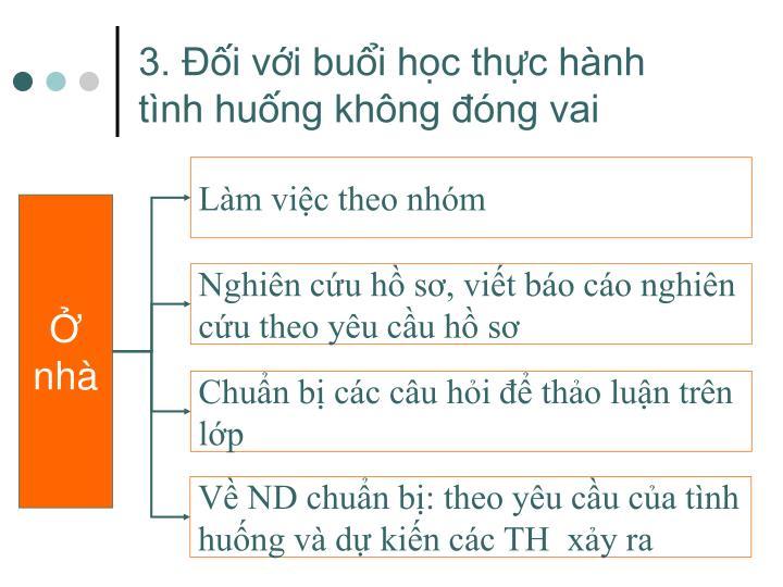 3. Đối với buổi học thực hành