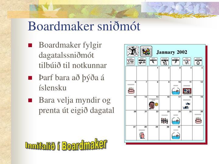 Boardmaker sniðmót