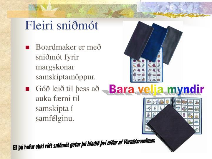 Fleiri sniðmót
