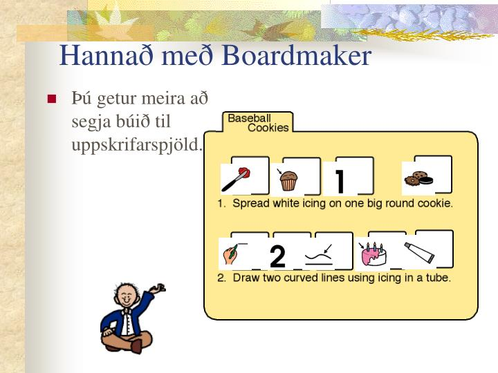 Hannað með Boardmaker