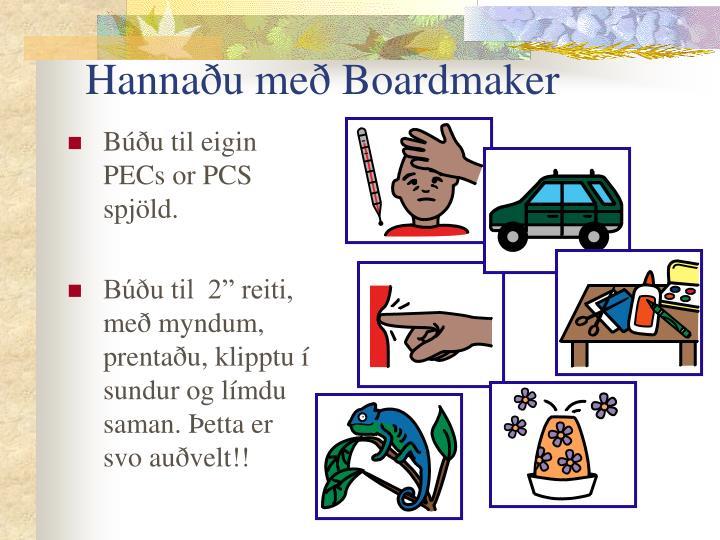 Hannaðu með Boardmaker