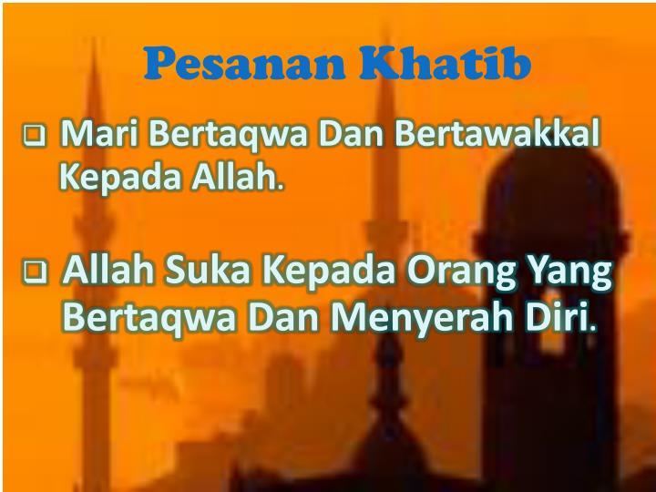 Pesanan Khatib
