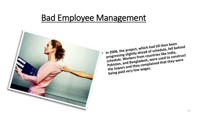 Bad Employee Management