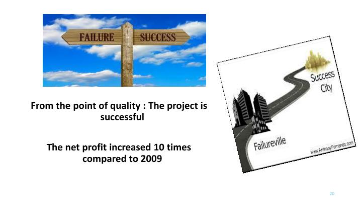 From the point of quality : The project is successful