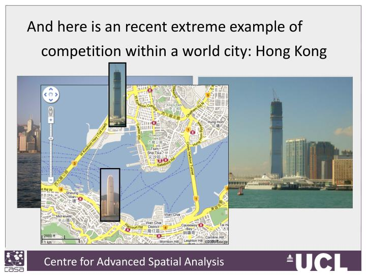 And here is an recent extreme example of competition within a world city: Hong Kong
